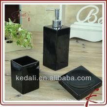 Ensemble de 3 accessoires en céramique pour une salle de bain