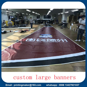 Large Size Custom Fireproof Advertising PVC Spanduk