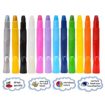Crayons de peinture de visage de clown Twistable bâtons de marqueur de maquillage