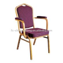 Golden Armrest Dining Chair Design (YC-D102)