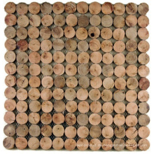 Eucalyptus-Mosaik-ungleiche Innenausstattungs-Hintergrund-Wand