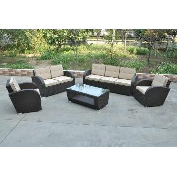 Modern Aluminium PE Rattan Sofe Set Furniture