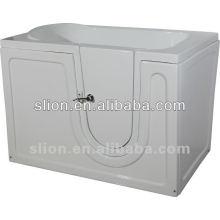 Marche acrylique blanche dans la baignoire pour personnes âgées