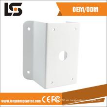 Personalice el soporte de la esquina del montaje en la pared de la cámara CCTV de la aleación de aluminio
