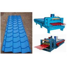 JCX 1100 telhas vitrificadas máquina de formação de rolos de aço colorido