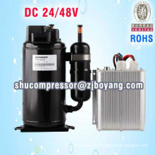 Air conditioner compressor for ac truck cabin vechile locomotive