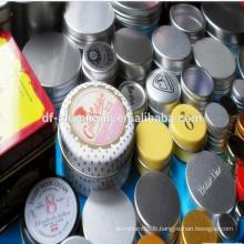 Bocal / bidon en aluminium à vente chaude pour l'emballage de crème cosmétiques