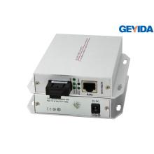 Convertidor de medios de interfaz de fibra óptica de fibra doble Sc de modo único
