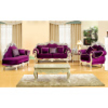 Wood Sofa with Chaise Lounge for Living Room Furniture (D929C)
