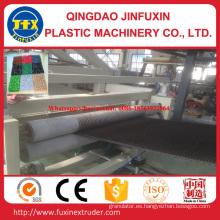 Máquina para fabricar alfombras de plástico