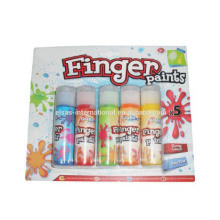 Bunte Kinder 5pcs, die Anstrich ungiftige Wasser-Farben-Finger-Farbe / wasserbasierende Farbe zeichnen