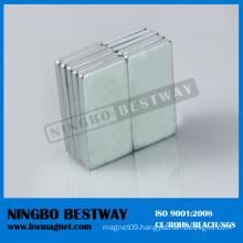 N45 Block NdFeB Magnet 1/4in.x1/4in.x2in. W/Ni coating
