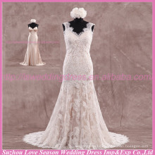 LS6005 Quality fabric best handmade High end alibaba mermaid tail wedding dress bridal gown sexy backless real wedding dress