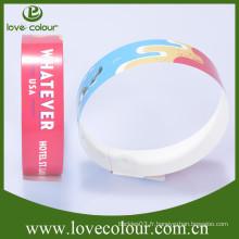 Bracelet en papier personnalisé bon marché pour fête et événements / wristband tyvek