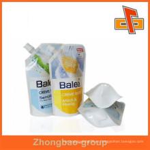 Bolsa de plástico de sellado de líquido de sellado, Bolsa de embalaje de vertido en la impresión profesional