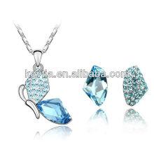 Unique design moda austríaca jóia da noiva de cristal conjunto