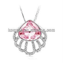 2015 nuevo estilo aibaba joyería al por mayor cristal colgante collar