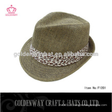 Leopard fedora hats rack wholesale