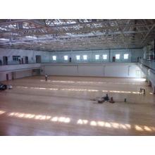 Suelo de deportes del PVC interior / al aire libre para el modelo de madera del baloncesto