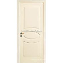 Puertas de dormitorio blanco pintado talla madera puerta del MDF, puertas de Interior,