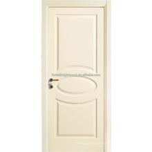 Portas de quarto branco pintado escultura MDF porta de madeira, portas interiores,