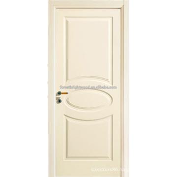 White Painted Carving MDF Wooden Door, Interior Doors, Bedroom doors
