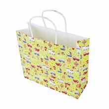 Sac en papier kraft poignée de sac en papier cadeau