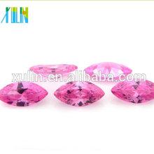 rosa claro cz moda joyería marquesa forma cubic zirconia nuevos productos