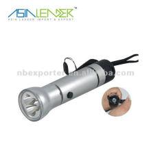 Wasserdichte Handdynamo-Taschenlampe mit Kompass