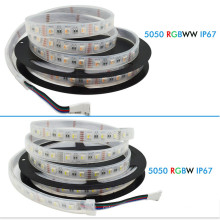 DC12V RGBW LED Strip 5050 60LED / m 5M LED Tape 4 color en IP67 a prueba de agua