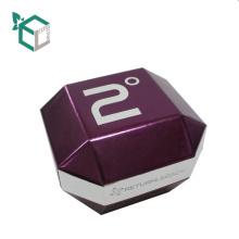 Chine Fournisseurs Logo Personnalisé Purple Holographique Papier D'estampille Carton Forme Spéciale Emballage Boîtes D'emballage