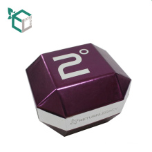 China Suppliers Custom Logo Purple Holographic Foil Stamp Cardboard Special Shape Watch Packaging Boxes