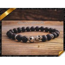 Pulseras de lava de la joyería de la manera con el mejor regalo del cráneo de plata (CB036)
