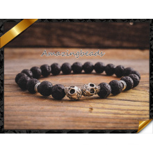 Fashion Jewelry Lava Bracelets with Silver Skull Best Gift (CB036)