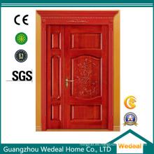 Personalizar la puerta doble de roble rojo desigual de madera maciza