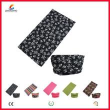 Ningbo Lingshang LSB-5397 100% poliéster Microfibra bandana multifunción sin costura headwear Custom Neck Tube