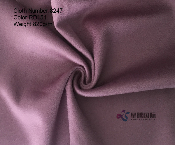 Water-wave 100% Wool Fabric Double Face