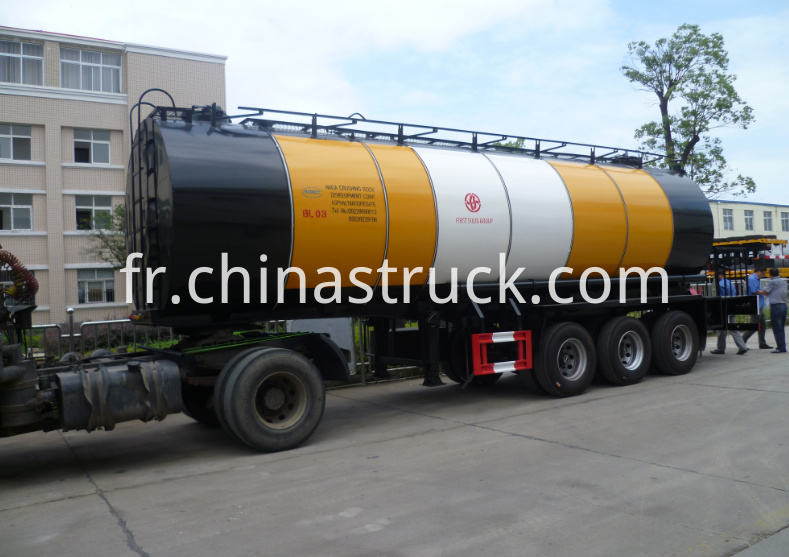 3 axle liquid insulation bitumen tank semi-trailer