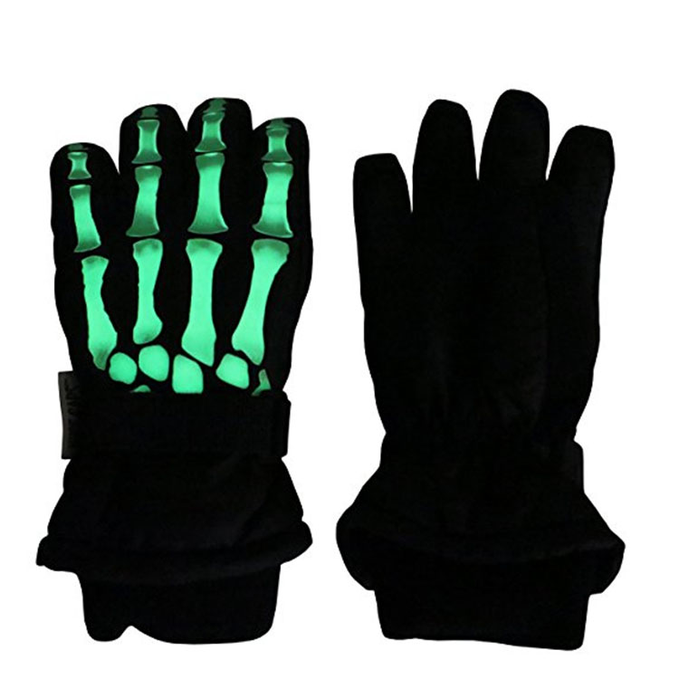 Cotton Black Glowing Gloves