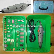 135w 217pcs GS CE ETL Approbation Mini broyeur électrique à usages multiples Ensemble d'accessoires Broyage électrique Hobby Rotary Tool