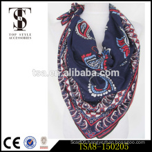 printed square cotton lady scarf trade assurance 2016 product for sale
