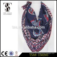 Impreso de algodón cuadrado de la señora de la bufanda de la garantía del comercio producto 2016 para la venta