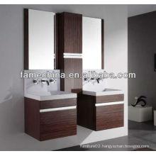 European style double basin Melamine Bathroom Vanity