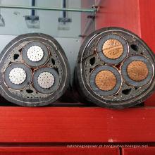 Único cabo de alumínio condutor de arame de aço blindado cabo 630mm XLPE