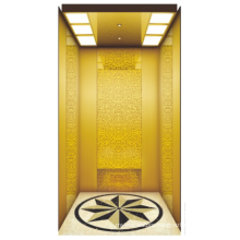 Luxury home lifts prices residential elevator Black titanium mirror etching stainess steel home lifts