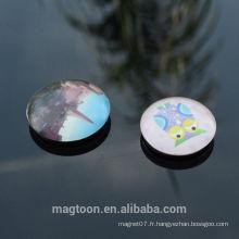 Personnalisé bon marché bon qualité bien design cristal dôme verre aimants