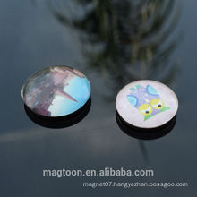 custom cheap good quality well design crystal dome glass fridge magnets