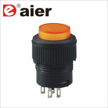 16mm SPST 250VAC Latching Illuminated Button Switch