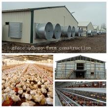 Estructura de acero Casa de granja de pollo para la granja moderna