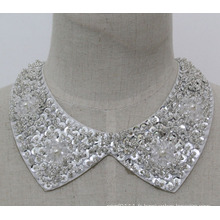 Femme Mode Costume Bijoux Sequin Chunky Choker Faux Col (JE0139-1)